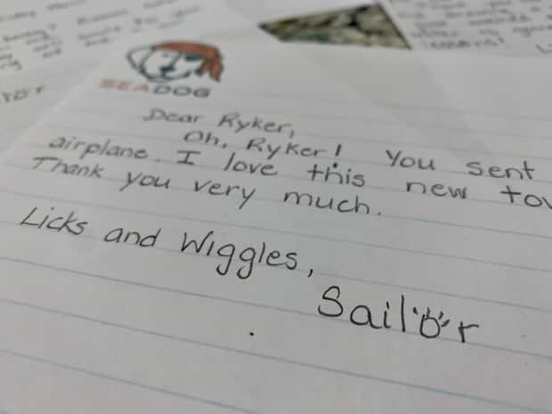 Sailor's letter to each student is signed the same way.