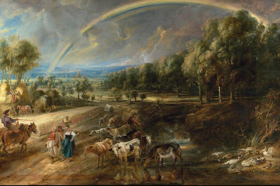 <p>Detail from the Rainbow Landscape</p> (Trustees of The Wallace Collection)
