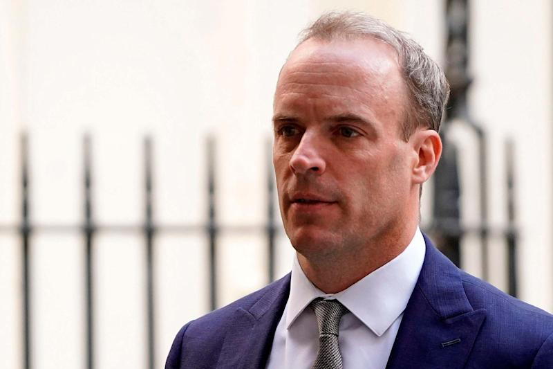 Dominic Raab refused to rule out a second suspension of Parliament if the government loses in the Supreme Court: AFP/Getty Images