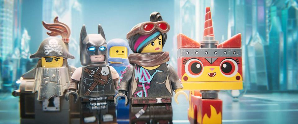 """<p><strong>HBO Max's Description:</strong> """"Everything is not so awesome in Bricksburg in this hit sequel! When Lego Duplo invaders threaten the city, it's up to Emmet, Lucy, and their pals to save the day-a feat that requires them to travel through time and space.""""</p> <p><a href=""""https://play.hbomax.com/feature/urn:hbo:feature:GXSd6QADIbJVLqQEAAAKz"""" class=""""link rapid-noclick-resp"""" rel=""""nofollow noopener"""" target=""""_blank"""" data-ylk=""""slk:Watch The Lego Movie 2: The Second Part on HBO Max here!"""">Watch <strong>The Lego Movie 2: The Second Part</strong> on HBO Max here!</a></p>"""