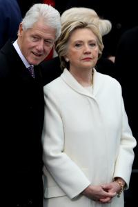Bill Clinton (left) and Hillary Clinton