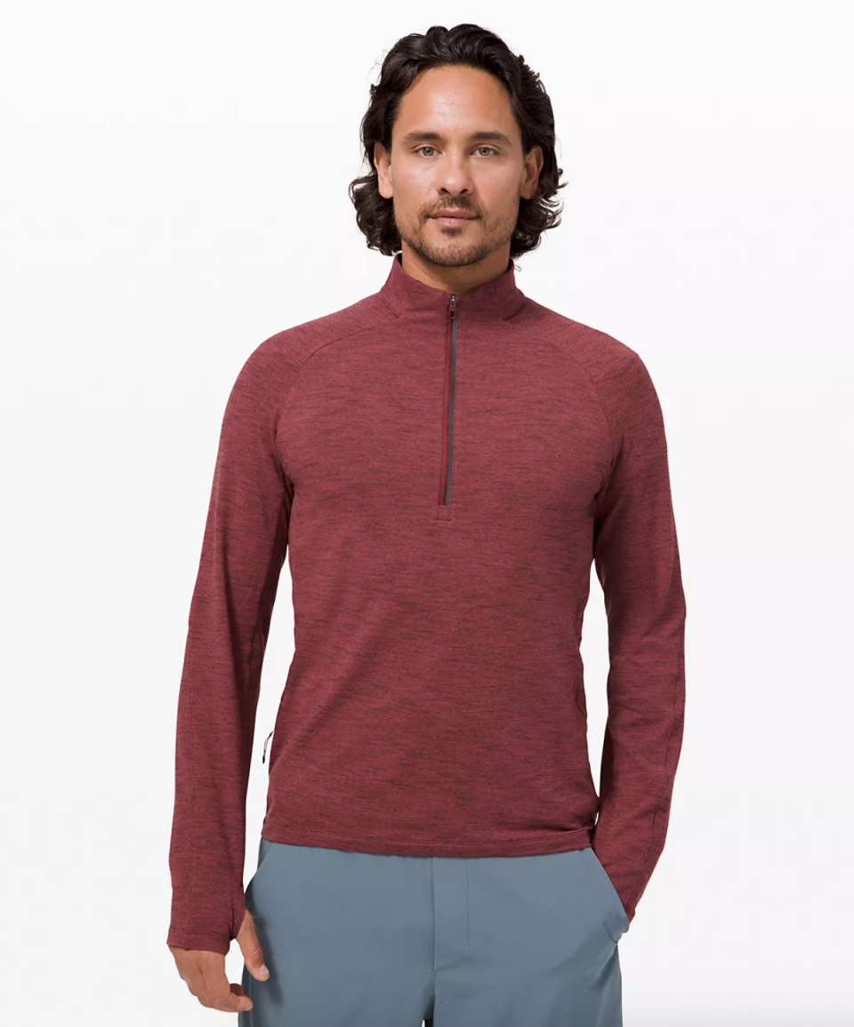 Surge Warm 1/2 Zip. Image via Lululemon.