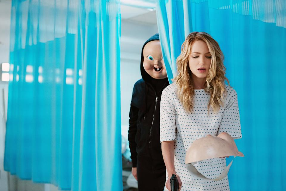 HAPPY DEATH DAY 2U, (aka HAPPY DEATH DAY TO YOU), from left: 'Babyface', Jessica Rothe, 2019. ph: Michele K. Short /  Universal /Courtesy Everett Collection