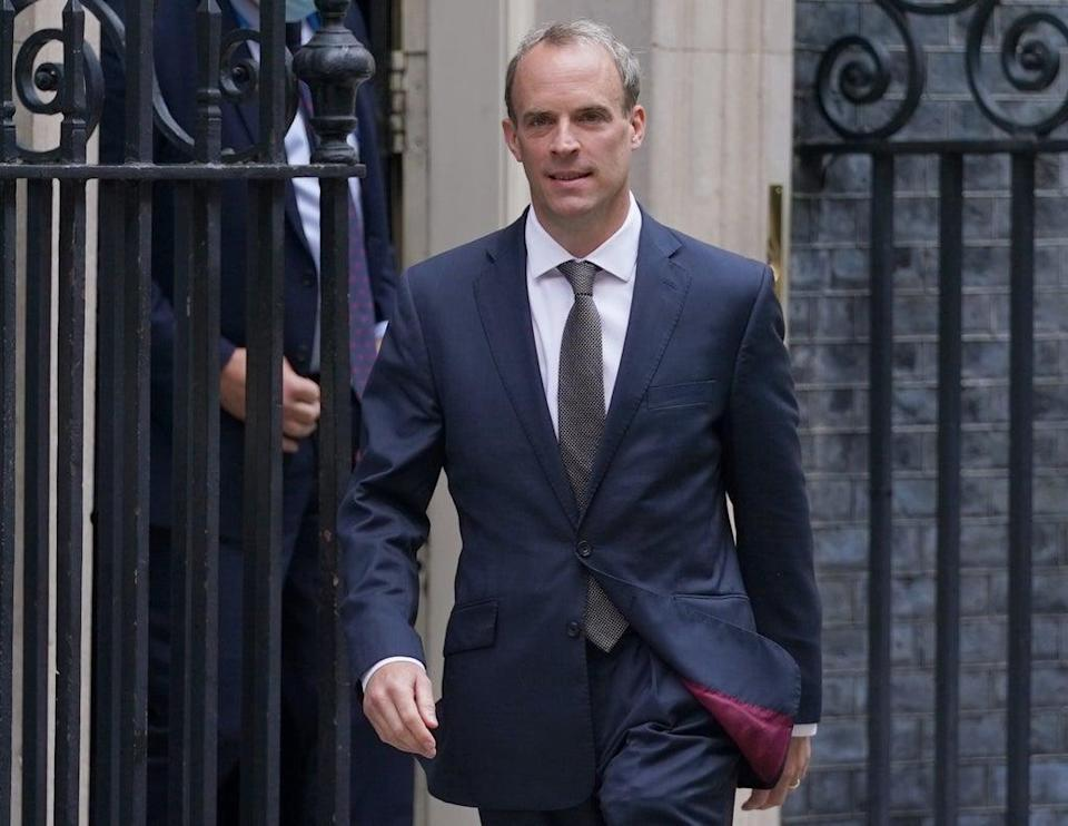 Foreign Secretary Dominic Raab, who has flown to Qatar (Kirsty O'Connor/PA) (PA Wire)