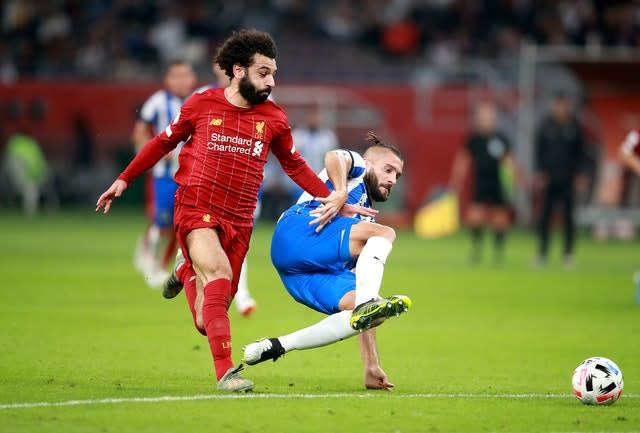Mohamed Salah took on the role of provider rather than scorer in Liverpool's Club World Cup semi-final win (Adam Davy/PA)