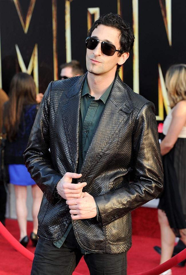 """<a href=""""http://movies.yahoo.com/movie/contributor/1800018941"""">Adrien Brody</a> at the Los Angeles premiere of <a href=""""http://movies.yahoo.com/movie/1810026429/info"""">Iron Man 2</a> - 04/26/2010"""