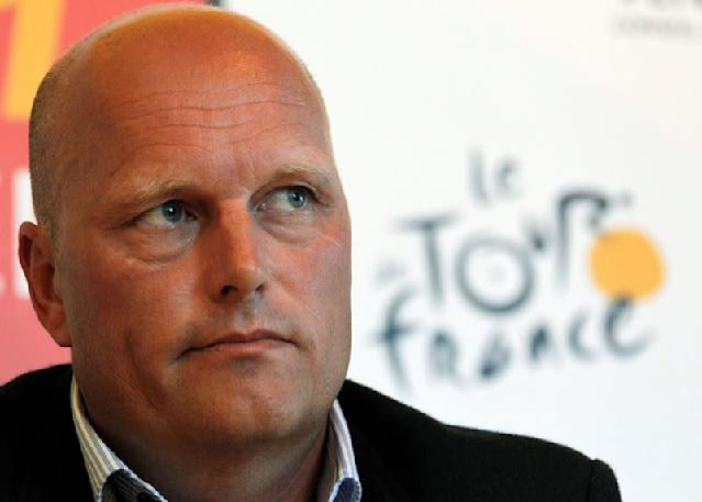 FILE PHOTO: Saxo Bank-SunGard team manager Riis of Denmark attends a news conference at the Tour de France media centre in Les Herbiers