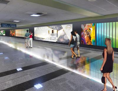 New digital signage from Clear Channel Airport set to greet arrivals into Trinidad & Tobago in 2020.
