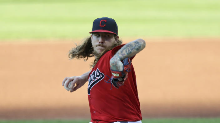 Mike Clevinger is the second Cleveland pitcher to quarantine after breaking team protocol. (Tony Dejak/AP)
