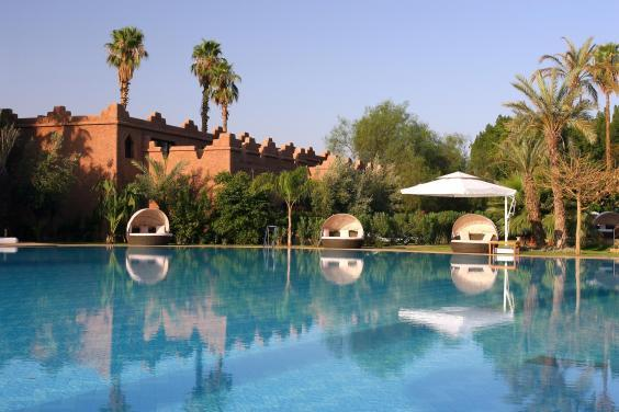 Kids young and old will love the collection of lagoons, swimming pools and exotic gardens (Es Saadi Marrakesh Resort)