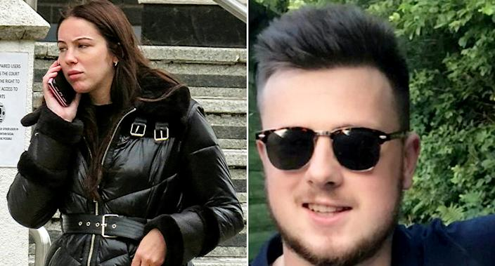 Megan Wagstaff, 21, caused the death of Harry Jenks, 21, when she ploughed her Seat Ibiza into a tree following a night out in March last year. (SWNS)