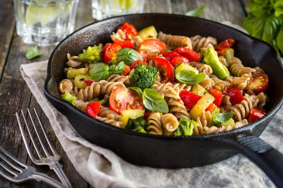 """<p>Fusilli goes with just about every pasta sauce. Great in a pasta bake, too. Like this <a href=""""https://www.delish.com/uk/cooking/recipes/a29887220/chicken-noodle-soup-casserole-recipe/"""" rel=""""nofollow noopener"""" target=""""_blank"""" data-ylk=""""slk:chicken pasta bake."""" class=""""link rapid-noclick-resp"""">chicken pasta bake.</a></p>"""