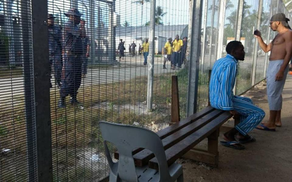 This November 2017 picture released by the Australian activist group GetUp shows asylum seekers (R) at Australia's Manus Island regional refugee processing centre in Papua New Guinea (AFP Photo/Handout)