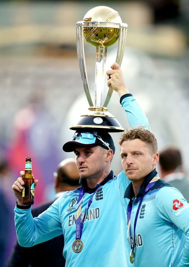 England cricketers Jason Roy (left) and Jos Buttler are currently in quarantine