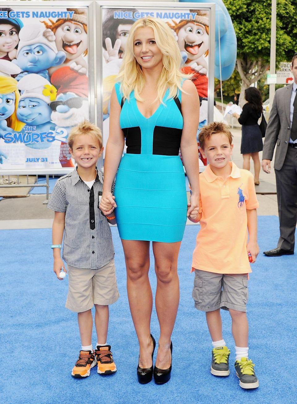 """<p>""""<a href=""""https://people.com/parents/britney-spears-talks-being-single-mom-to-sons/"""" rel=""""nofollow noopener"""" target=""""_blank"""" data-ylk=""""slk:My kids"""" class=""""link rapid-noclick-resp"""">My kids</a> come first, always. There is nothing more rewarding than being a mom and watching my sons grow into young men. I am so lucky that I get to experience all of life's adventures with them.""""</p>"""