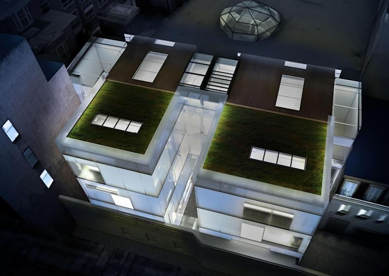 This £50m frosted glass mansion is the most expensive new-build home in Mayfair, London. Photo: Alex Lawrie/LC