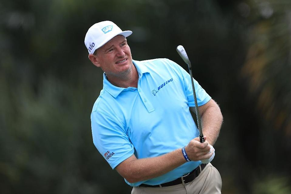 South Africa's Ernie Els, 49, is two off the pace after one round of the US PGA Tour Honda Classic (AFP Photo/SAM GREENWOOD)