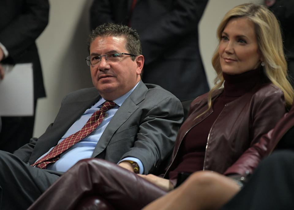 Washington Football Team co-CEO Tanya Snyder blew a chance to show remorse for the victims of the franchise's toxic workplace culture, overseen by husband Dan Snyder. (Photo by John McDonnell/The Washington Post via Getty Images)