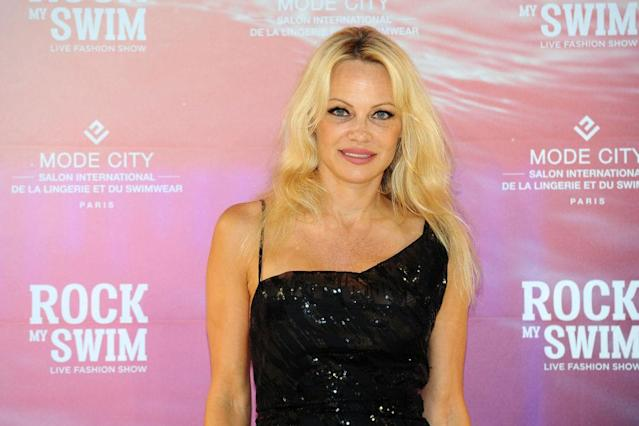 Pamela Anderson attends a fashion show on July 8, 2017, in Paris. (Photo: Frederic Stevens/WireImage)