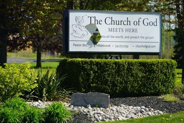 The Church of God in Aylmer, Ont., has repeatedly defied provincial laws, as well as a judge's order to stop gathering. An Ontario judge on Friday ordered that its doors be locked. (Colin Butler/CBC - image credit)