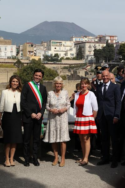 While Charles is in Amatrice, Camilla will visit the Arcobaleno association in Florence which helps female victims of human trafficking (AFP Photo/CARLO HERMANN)