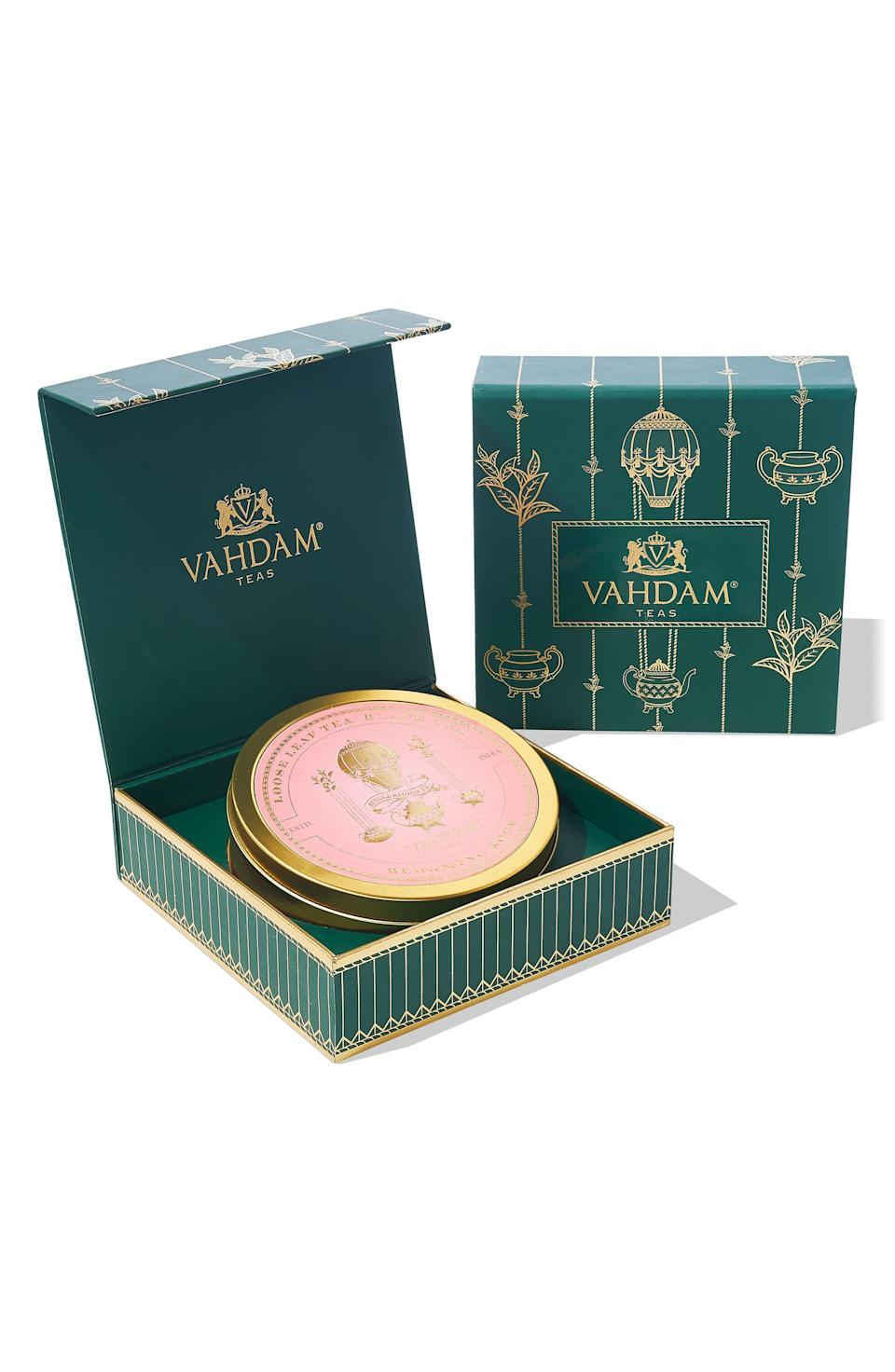 """<p><strong>VAHDAM TEAS</strong></p><p>nordstrom.com</p><p><strong>$18.00</strong></p><p><a href=""""https://go.redirectingat.com?id=74968X1596630&url=https%3A%2F%2Fshop.nordstrom.com%2Fs%2Fvahdam-teas-signature-private-reserve-blooming-rose-loose-leaf-black-tea%2F5476496&sref=https%3A%2F%2Fwww.redbookmag.com%2Ffood-recipes%2Fg35419747%2Fbest-tea-brands%2F"""" rel=""""nofollow noopener"""" target=""""_blank"""" data-ylk=""""slk:Shop Now"""" class=""""link rapid-noclick-resp"""">Shop Now</a></p><p>Taste some of the best (not to mention most beautiful) teas India has to offer with Vahdam. Not only are they certified climate- and plastic-neutral, but a portion of their proceeds go to improving educational opportunities in India too, so it's a cup you can feel good about brewing. </p>"""