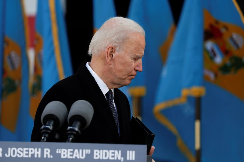 Joe Biden visits Beau Biden National Guard/Reserve Center in New Castle