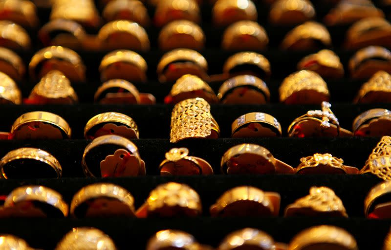 Gold prices ease on firmer equities