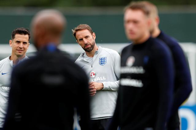 Soccer Football - World Cup - England Training- England Training Camp, Saint Petersburg, Russia - June 25, 2018 England manager Gareth Southgate during training REUTERS/Lee Smith