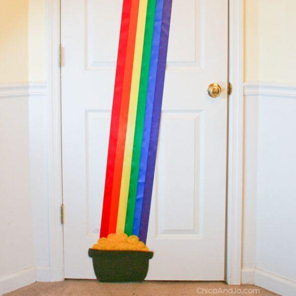 """<p>Start with simple satin ribbon, and before you know it, you'll have a pot of gold at the end of your rainbow.</p><p><strong>Get the tutorial at <a href=""""https://www.chicaandjo.com/st-patricks-day-door-decoration/"""" rel=""""nofollow noopener"""" target=""""_blank"""" data-ylk=""""slk:Chica and Jo"""" class=""""link rapid-noclick-resp"""">Chica and Jo</a>.</strong></p><p><a class=""""link rapid-noclick-resp"""" href=""""https://go.redirectingat.com?id=74968X1596630&url=https%3A%2F%2Fwww.walmart.com%2Fsearch%2F%3Fquery%3Dsatin%2Bribbon&sref=https%3A%2F%2Fwww.thepioneerwoman.com%2Fhome-lifestyle%2Fcrafts-diy%2Fg34931626%2Fst-patricks-day-decorations%2F"""" rel=""""nofollow noopener"""" target=""""_blank"""" data-ylk=""""slk:SHOP SATIN RIBBON"""">SHOP SATIN RIBBON</a></p>"""