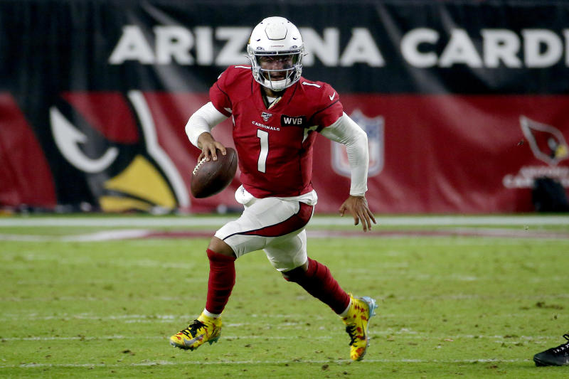 Arizona Cardinals quarterback Kyler Murray (1) and his team will play in Mexico in 2020. (AP Photo/Rick Scuteri)