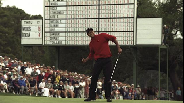 Tiger Woods will not compete at Augusta this year, but memories of his staggering 1997 victory are still fresh in the memory for many.