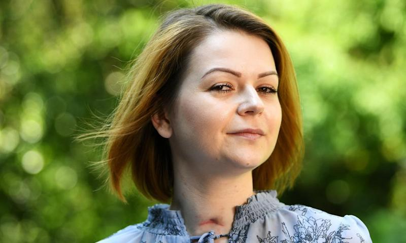 Yulia Skripal speaks on 23 May in London.