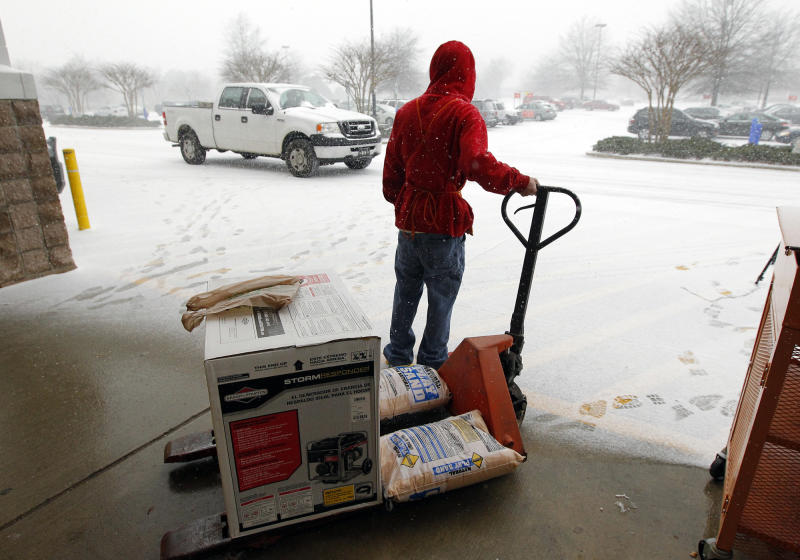 Bad weather puts the chill on many companies