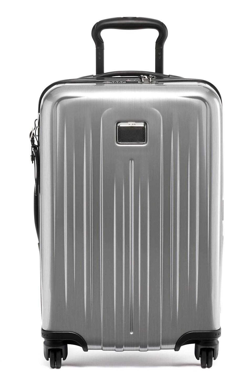 """<p><strong>TUMI</strong></p><p>nordstrom.com</p><p><strong>$349.90</strong></p><p><a href=""""https://go.redirectingat.com?id=74968X1596630&url=https%3A%2F%2Fwww.nordstrom.com%2Fs%2Ftumi-v4-international-22-inch-expandable-wheeled-carry-on%2F5594915&sref=https%3A%2F%2Fwww.veranda.com%2Fluxury-lifestyle%2Fg33484341%2Fnordstrom-anniversary-sale-2020%2F"""" rel=""""nofollow noopener"""" target=""""_blank"""" data-ylk=""""slk:Discover"""" class=""""link rapid-noclick-resp"""">Discover</a></p><p>This durable carry-on is the most lightweight option the brand offers, and is perfect maneuverable option for a weekend getaway or business trip. </p>"""