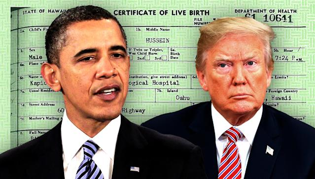 Barack Obama and Donald Trump. (Photo illustration: Yahoo News; photos: AP)