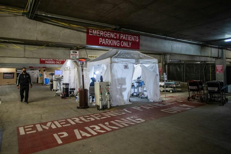 One California hospital set up a temporary emergency room in its parking garage