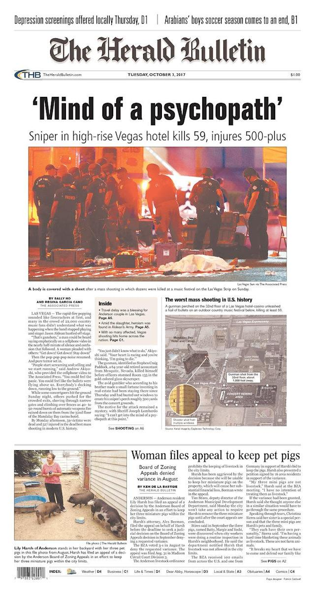 "<p>""The Herald Bulletin,"" published in Anderson, Ind. (newseum.org) </p>"