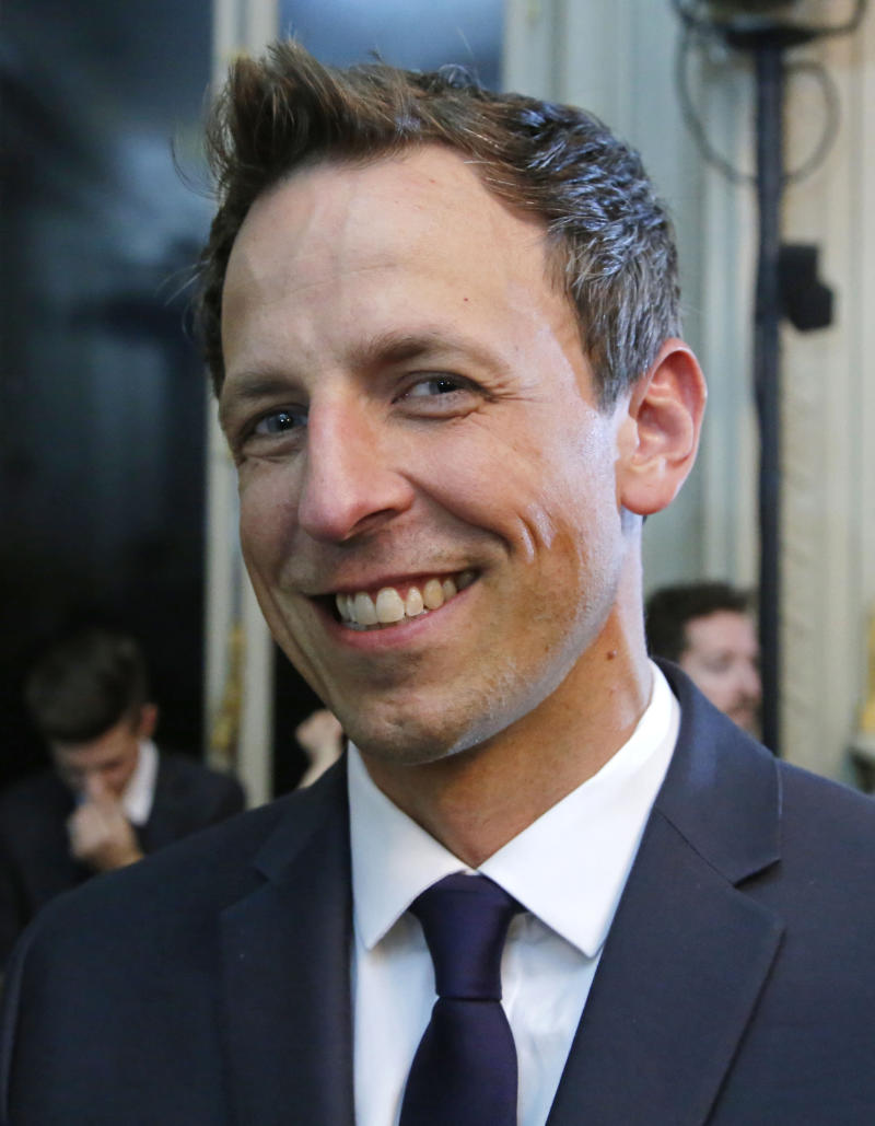 Seth Meyers starts Paris fashion week with giggles