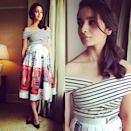 <p>All about those high waist skirts in quirky prints. </p><p>Instagram.com/aliaabhatt</p>
