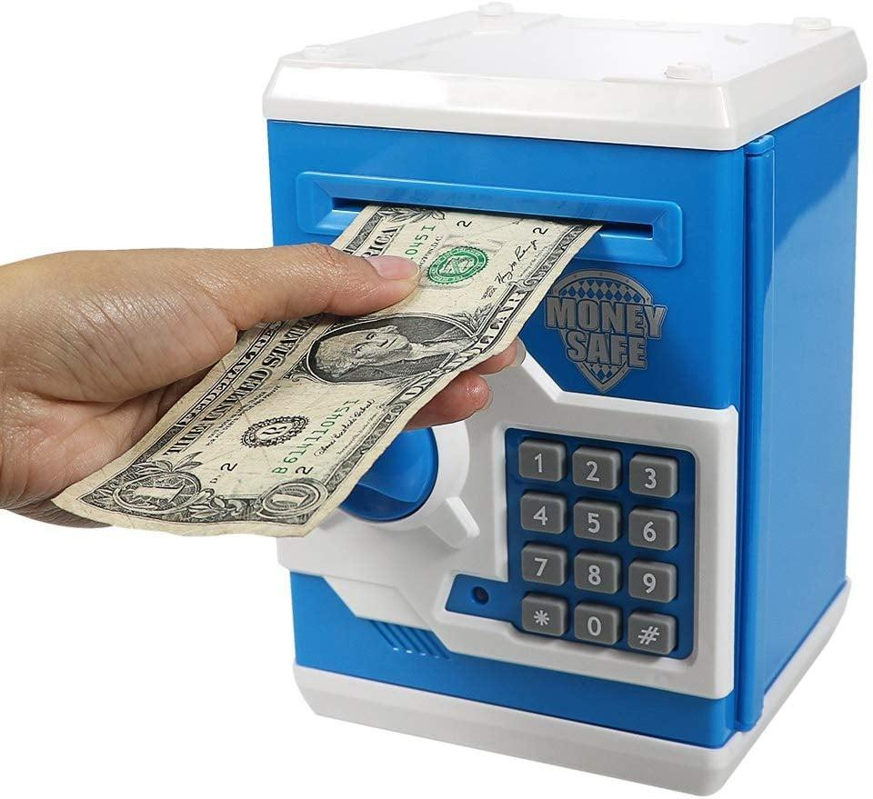 <p>Teach them to earn and save with this <span>Electronic Piggy Bank Mini ATM</span> ($21, originally $26). They'll be excited to save up and see the rewards.</p>