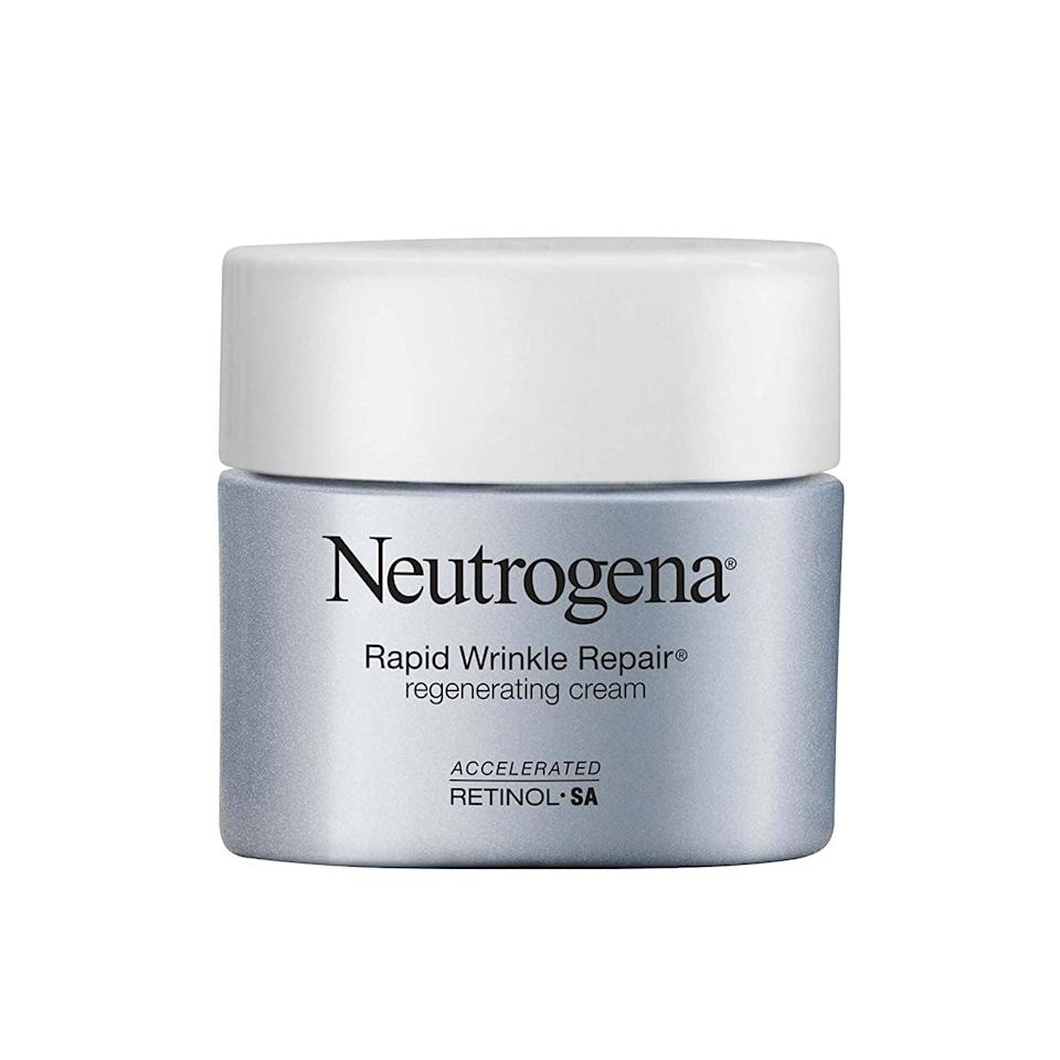<p><span>Neutrogena Rapid Wrinkle Repair Retinol Regenerating Anti-Aging Face Cream</span> ($18, originally $27)</p>