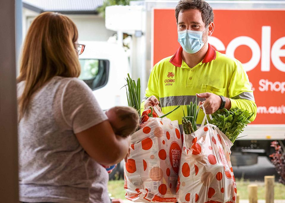 Coles Plus members using their free delivery service