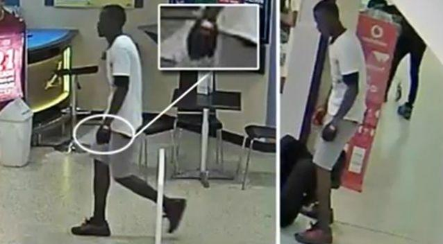 Police have released images of the man believed responsible for the violent rampage. Photo: Supplied
