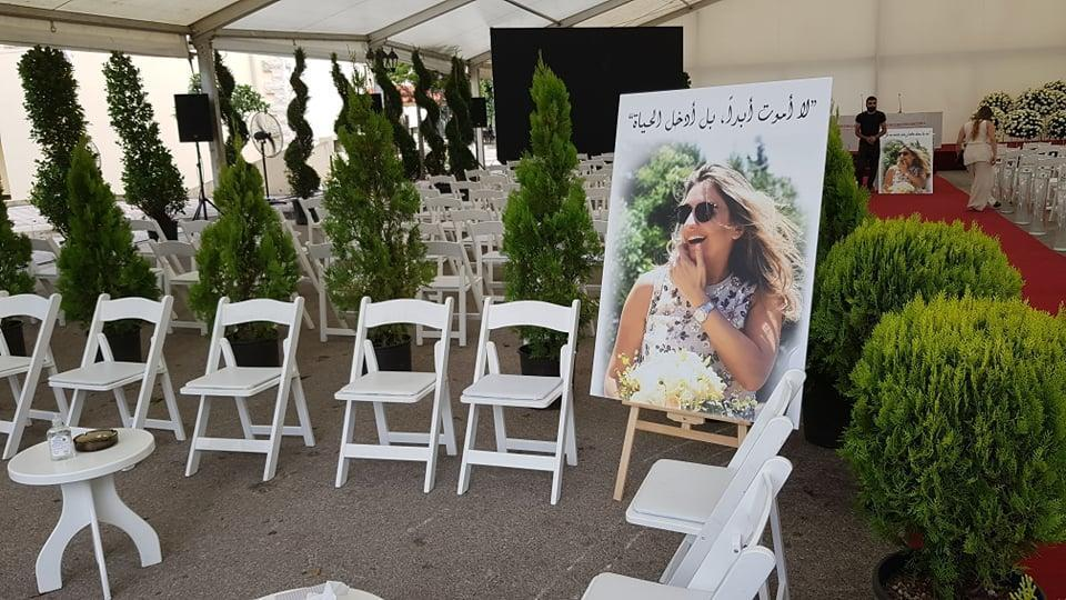 This image shows the funeral for Krystel el Adem. / Credit: Courtesy of Fady Fayad