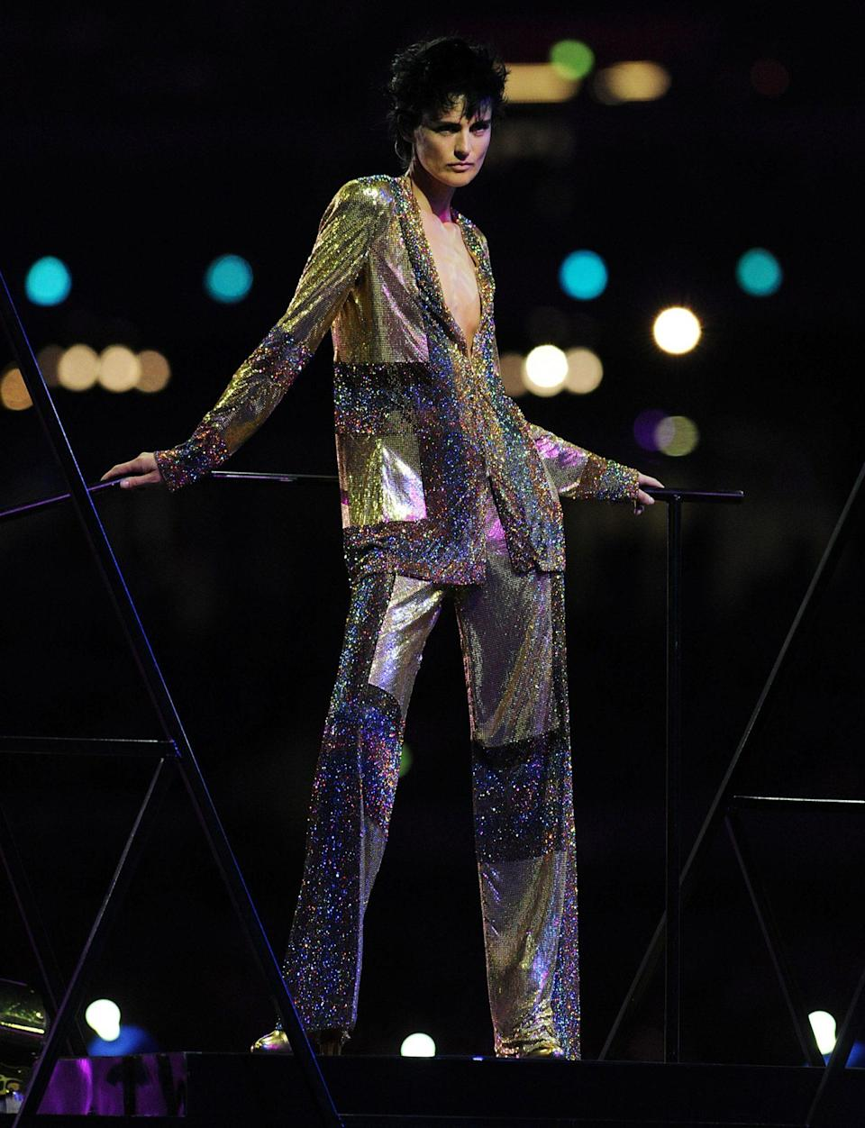 "<p>Alongside the biggest names in British modeling — Naomi Campbell, Kate Moss, Georgia May Jagger and more — Tennant celebrated Britain's designers in a fashion spectacle with David Bowie's ""Fashion"" blasting through the stadium at the 2012 London Summer Olympics' Closing Ceremony. </p>"