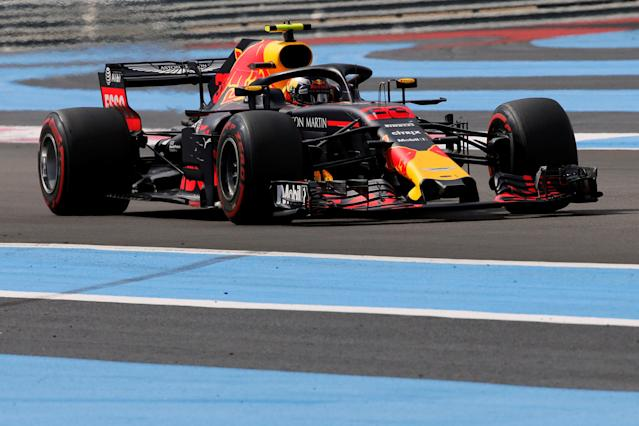 Formula One F1 - French Grand Prix - Circuit Paul Ricard, Le Castellet, France - June 24, 2018 Red Bull's Max Verstappen during the race REUTERS/Jean-Paul Pelissier