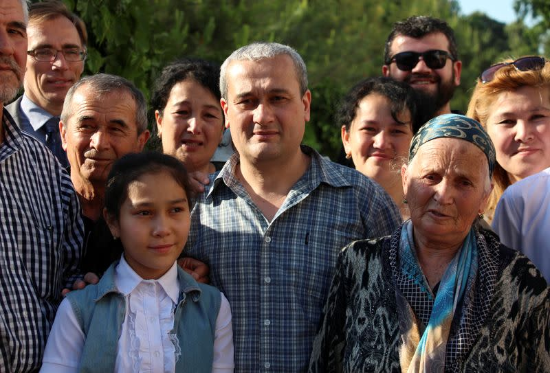 FILE PHOTO: Uzbek journalist Abdullayev is seen after a court hearing in Tashkent