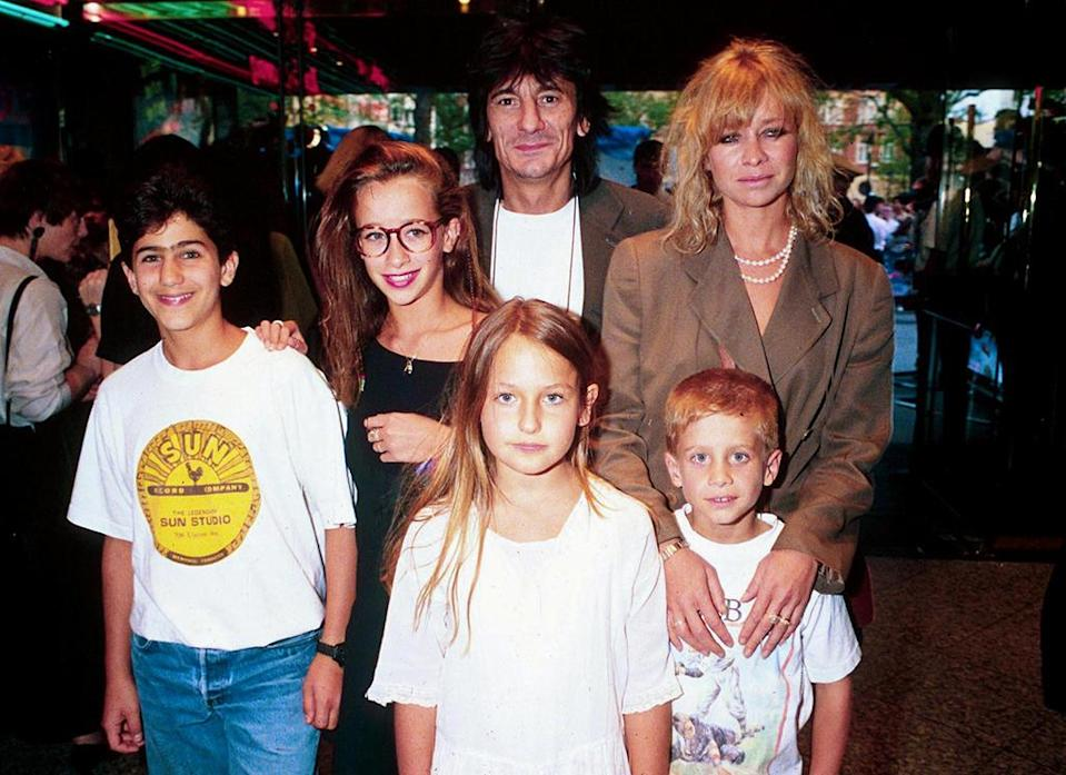 <p>The Rolling Stones guitar player brought his family along to the London 'Wayne's World' premiere. (Photo: Richard Young/REX/Shutterstock) </p>