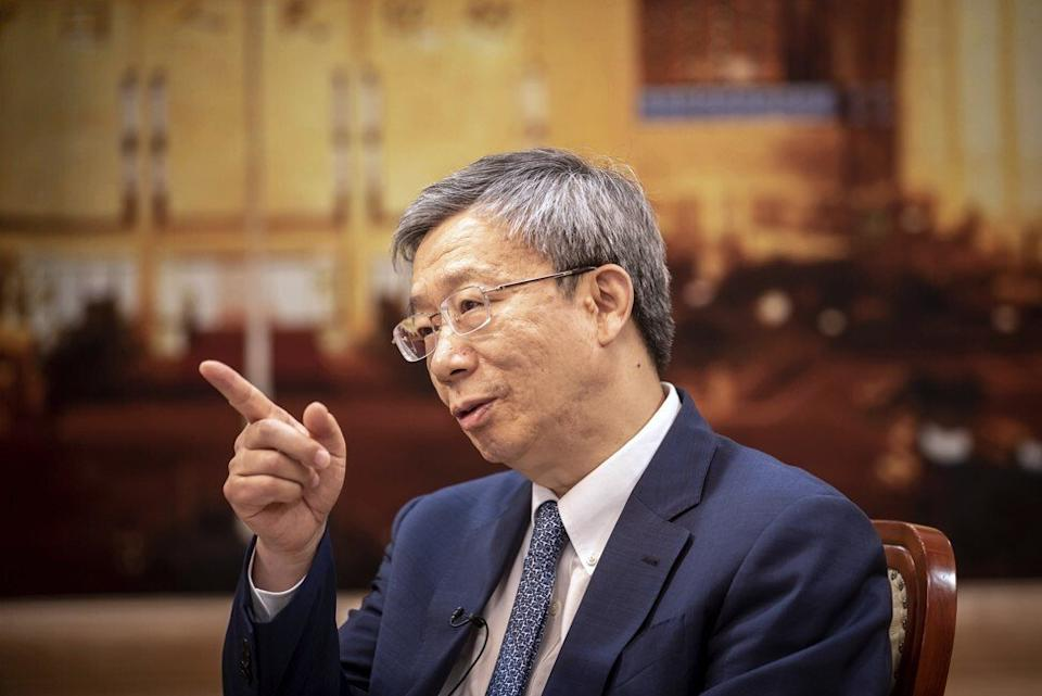 The PBOC's Yi Gang has nightmares about privacy breaches. Photo: Bloomberg